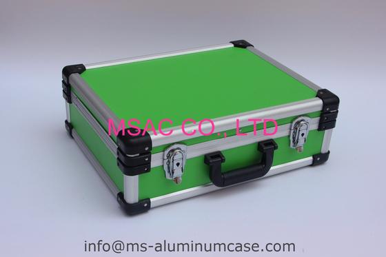 Blauer Aluminiumwerkzeug-Kasten mit Teilern und Werkzeug-Platte für tragende Werkzeuge